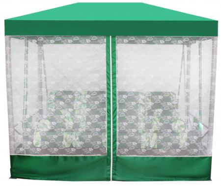 Беседка Премиум со столиком (зеленая)