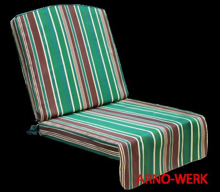 Подушка-кресло для 3-х местных качелей Элит Люкс (Элит Стандарт) Зеленые