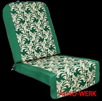 Подушка-кресло для 4-х местных качелей Дефа Люси  Зеленые
