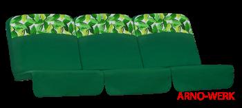 Подушка-кресло для 3-х местных качелей Элегант Премиум Зеленые